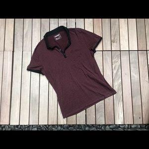 EXPRESS | Burgundy Polo Shirt
